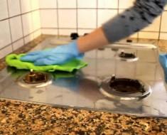 pulire in cucina